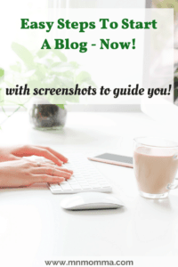 create a blog quickly with screenshots
