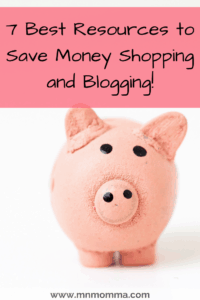 Piggy Bank. Saving money shopping and blogging. Frugal Resources