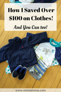 How I saved $100 on clothes