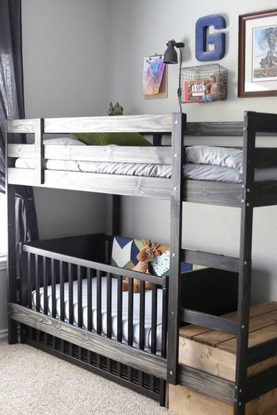 ikea crib hack: bunk beds