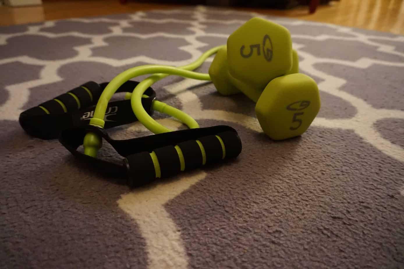HIIT workout - dumb bells