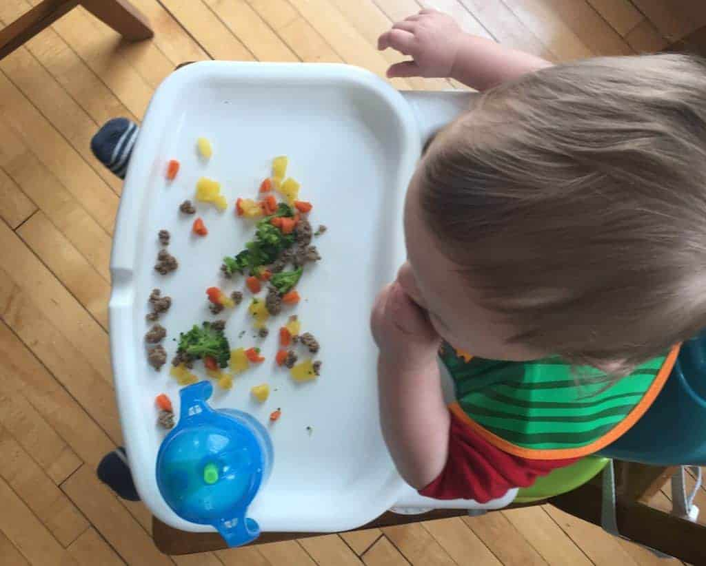 baby led weaning- toddler not eating vegetables