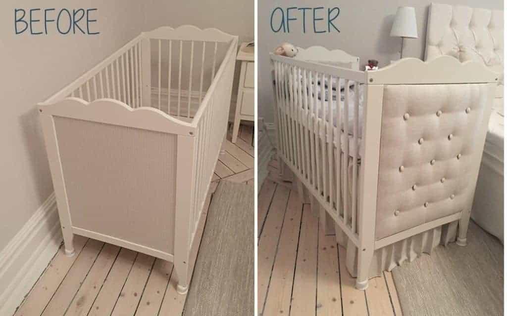 ikea crib upgrade - IKEA Nursery Hacks