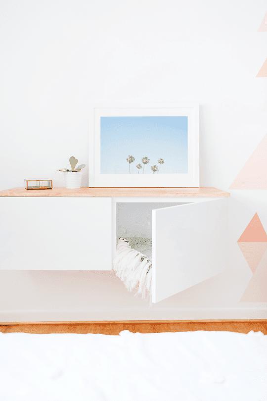 IKEA Nursery Hacks floating shelf