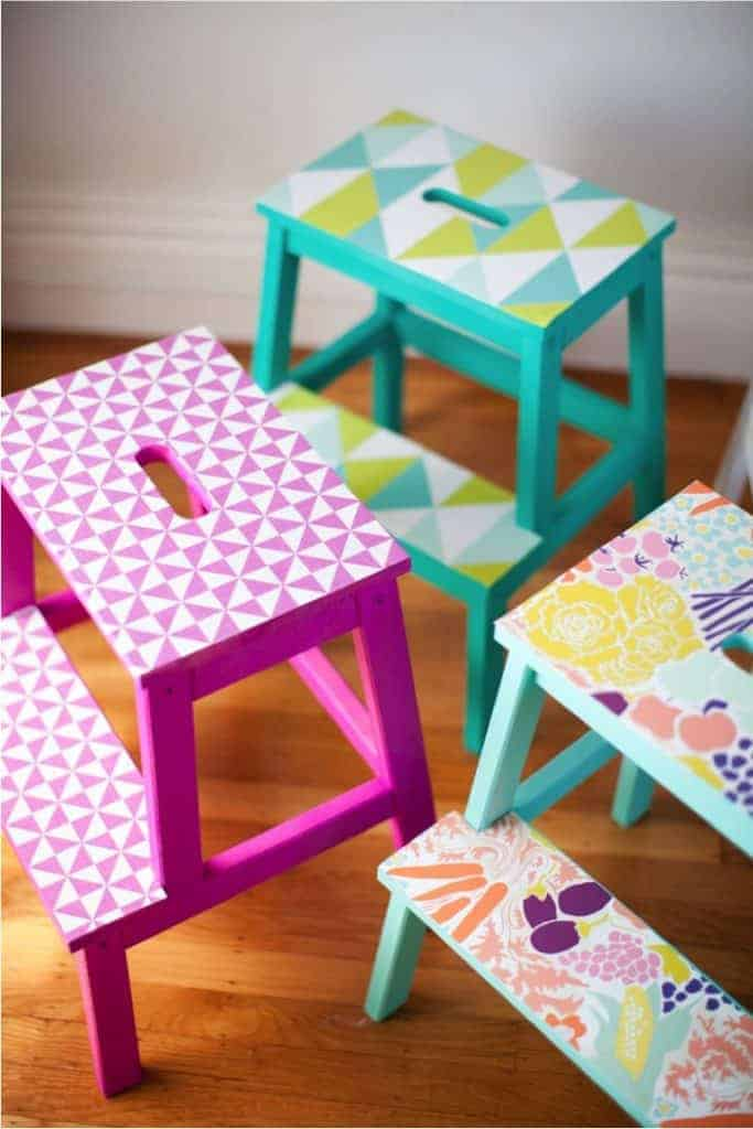 stools IKEA Nursery Hacks