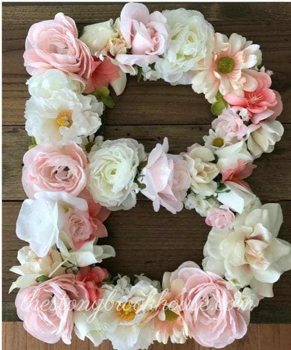 floral letter dollar store hack