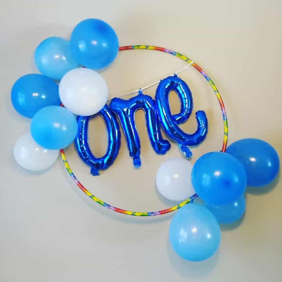 one birthday wreath