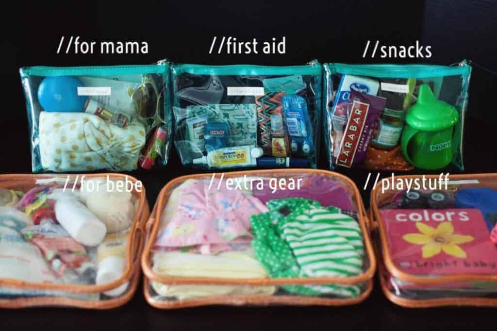 baby bag dollar store hack