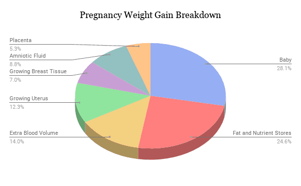 where pregnancy weight gain goes