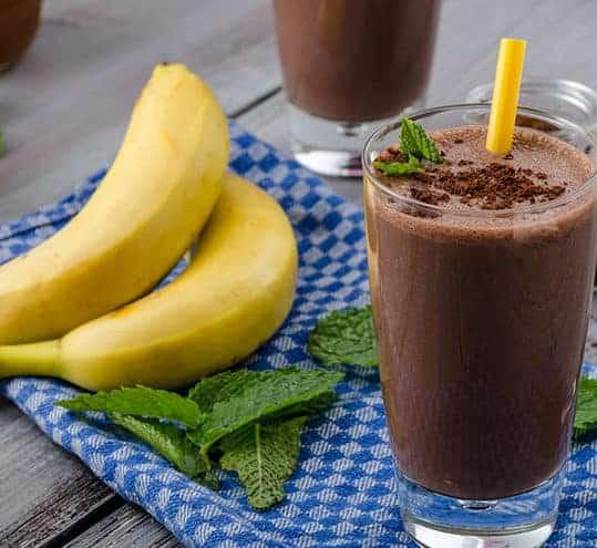 choc banana smoothie milk boosting recipes