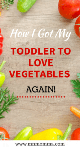 toddler won't eat vegetables - healthy snacks