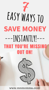 7 ways to save money instantly
