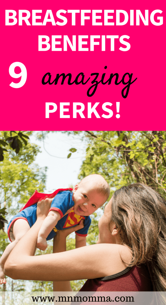 breastfeeding benefits - these 9 amazing perks are so great for you and your baby! benefits of breastfeeding include healthier baby and mom!