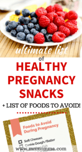 Looking for a list of Best Foods to Eat While Pregnant and Foods to Avoid? This ultimate list of healthy pregnancy foods will help you have a healthy pregnancy!