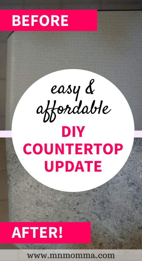 diy countertop update - easy and affordable countertops! Lookalike granite countertops with giani countertop paint!