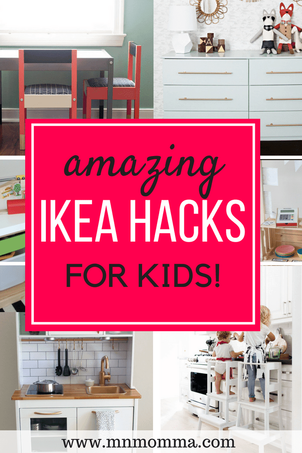 Find the best IKEA hacks for children's rooms and playrooms! DIY ideas for IKEA furniture to make it one of a kind! Update your IKEA furniture on a budget and make your child's room look amazing!