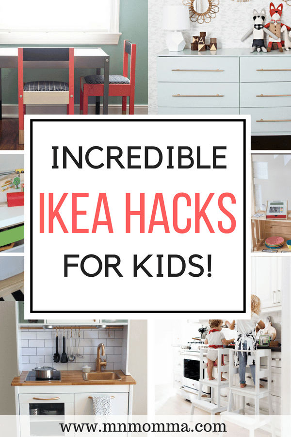 The best IKEA hacks for kids rooms! DIY your child's room on a budget with these amazing IKEA hacks for kids!