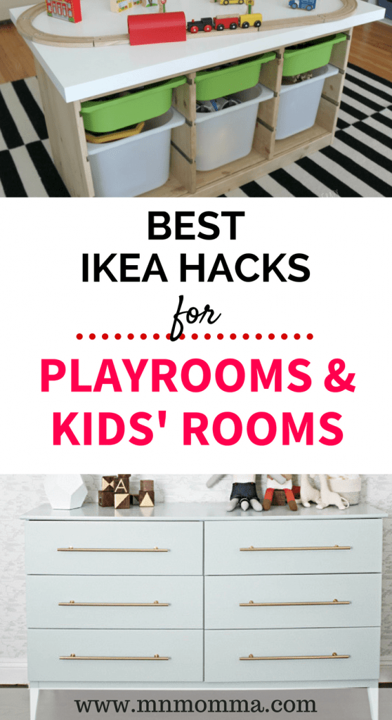 The best easy to follow IKEA hacks for kids rooms and playrooms! Check out these amazing IKEA hacks to make your child's room unique! Easy to follow DIY tips!