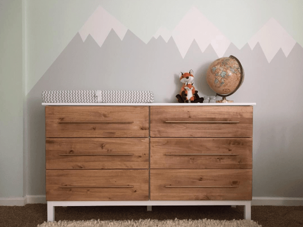 ikea hacks for kids - wood dresser