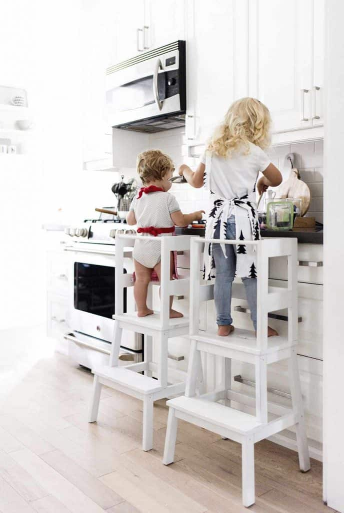 Ikea Hacks for kids - learning tower stool