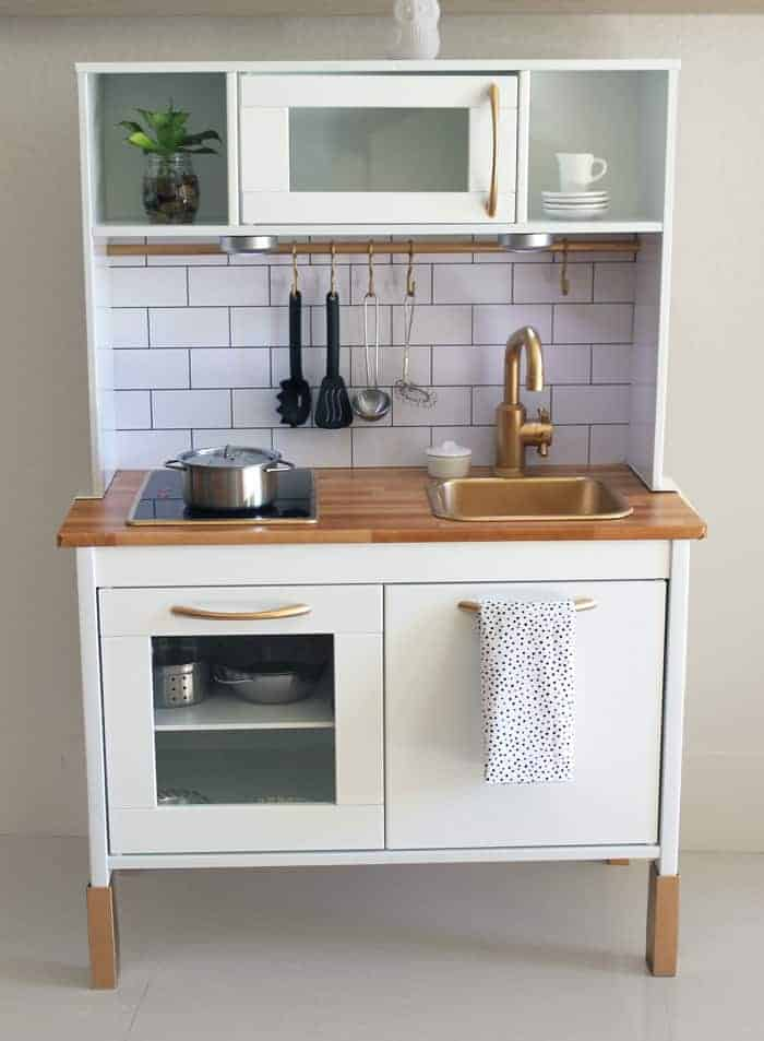 ikea hacks for kids - kitchen set