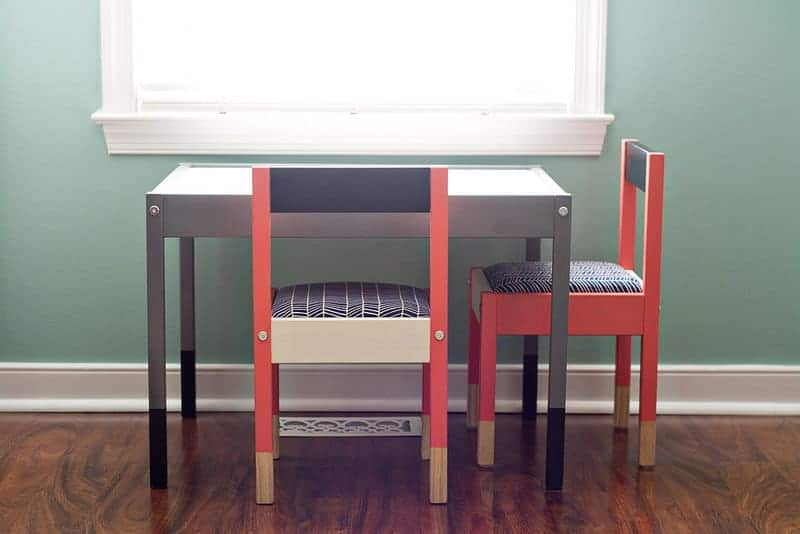 ikea hacks for kids - ikea table and chairs