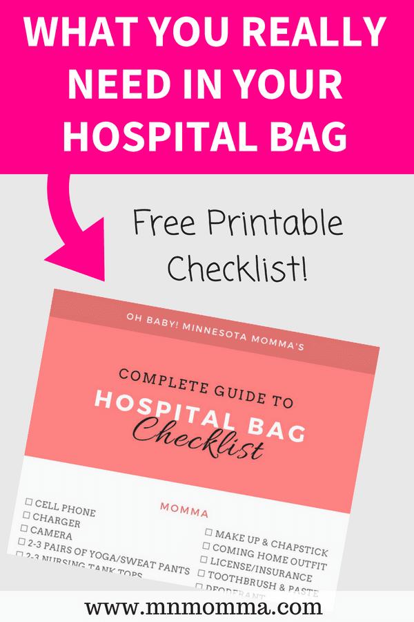 Hospital Bag Checklist for Mom & Baby