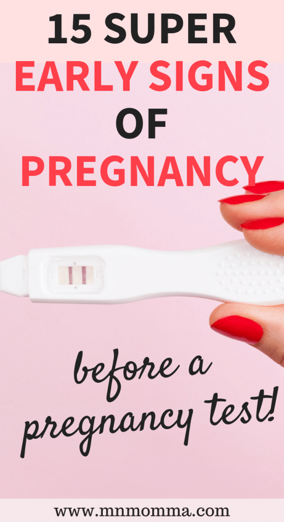Early Signs of Pregnancy - before a pregnancy test