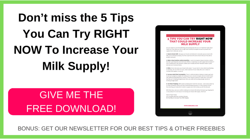 5 tips to you can try right now to increase your milk supply