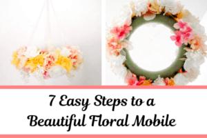 DIY Floral Mobile for Nursery - perfect for baby girl nursery ideas!