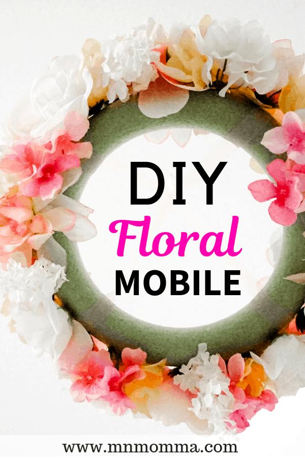 DIY floral mobile for nursery