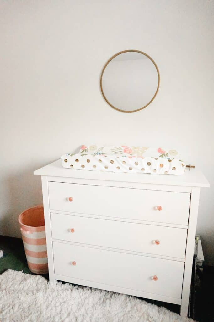 pink and white baby girl nursery ideas