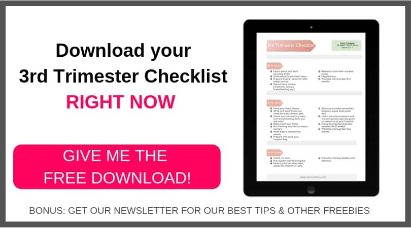 3rd trimester checklist free printable