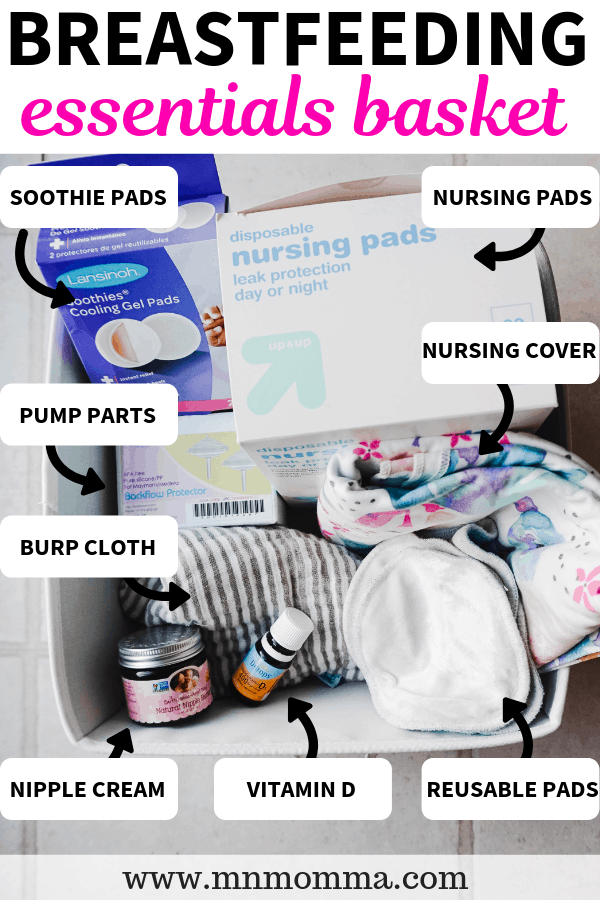 Breastfeeding Station and Care Kit - What to Put in Your Breastfeeding Basket