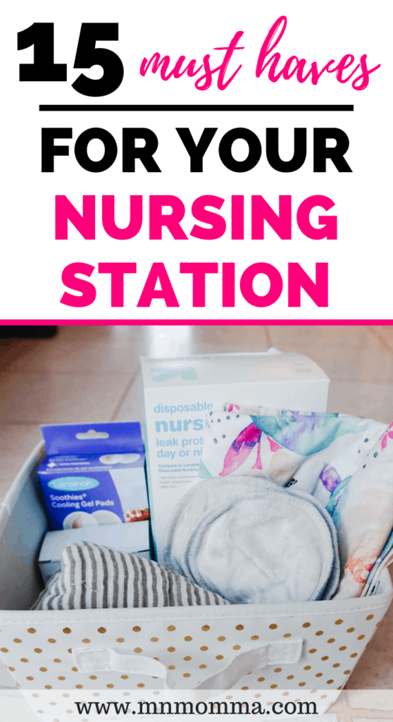 Must haves for your nursing and breastfeeding station