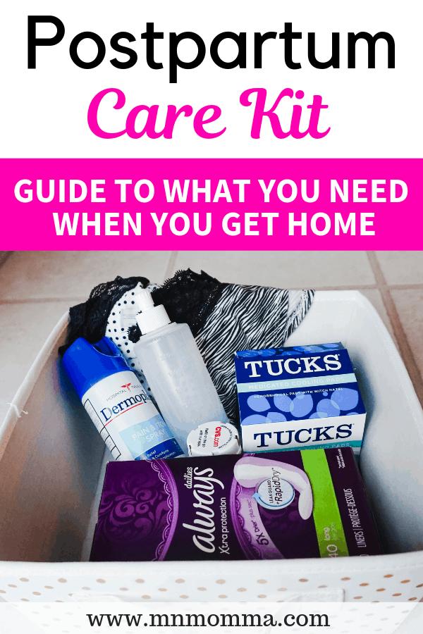 Postpartum Care Kit Ideas