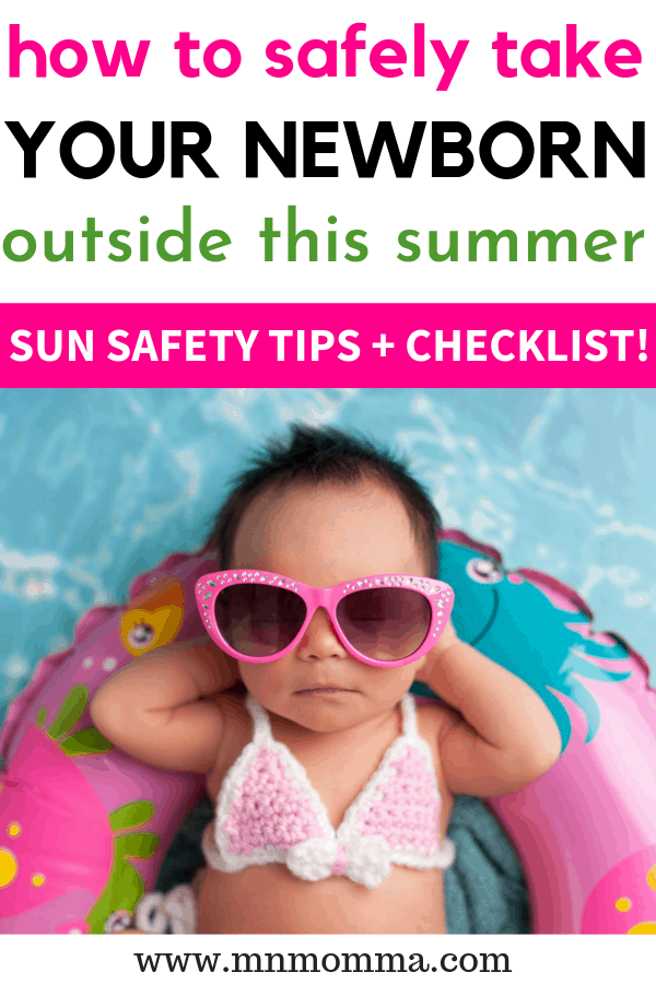 How to take your Newborn outside in the summer - best tips
