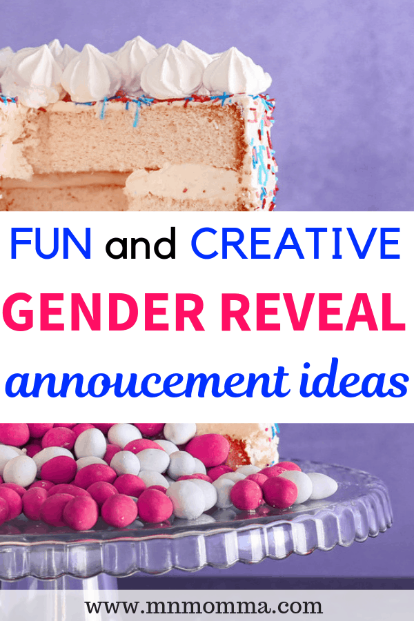 gender reveal announcement ideas