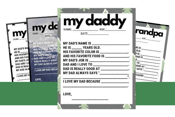 father's day interview free printable