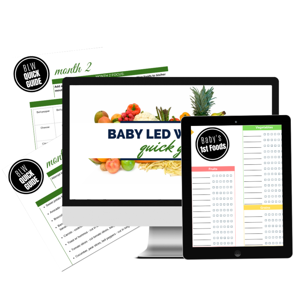 Baby Led Weaning Quick Guide – 3 Month Guide to First Foods