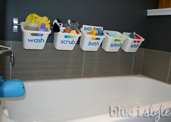 ikea bath toy storage hack