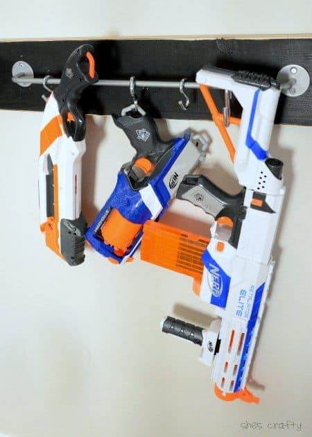ikea toy storage hacks: nerf gun storage