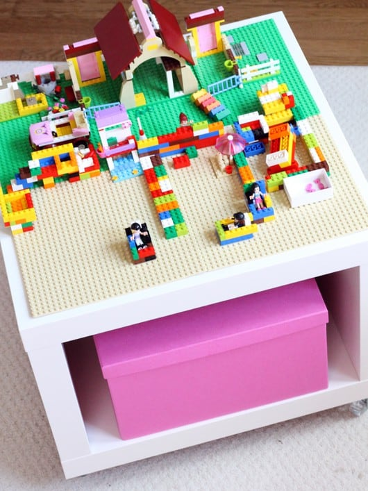 ikea toy storage hacks for lego tables