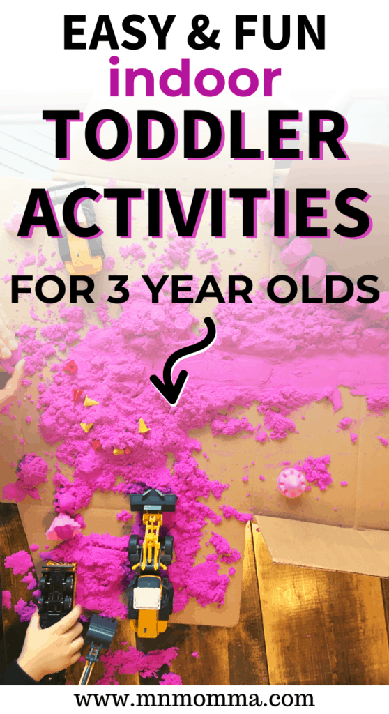 Activities for 3 year old Inside