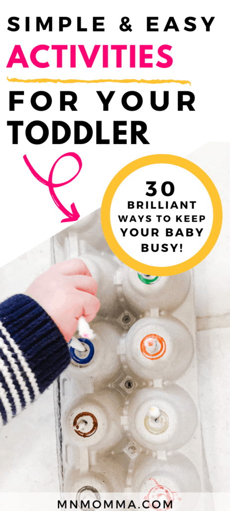 Activities for 1 year olds that they can do at home