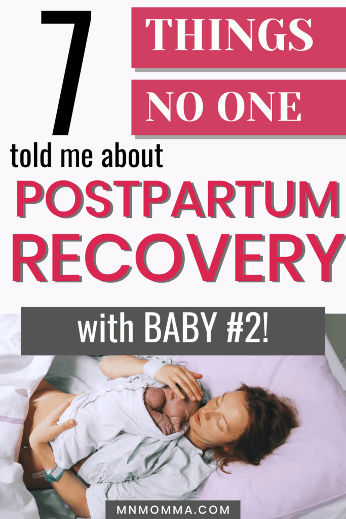 Postpartum Recovery Tips with Baby #2 - What no one told me!
