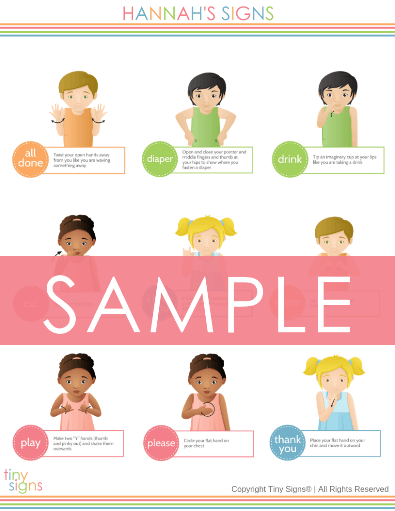 Custom Baby Sign Language Chart